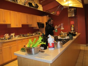 Chef Ken Lefebour in our Go Cooking kitchen