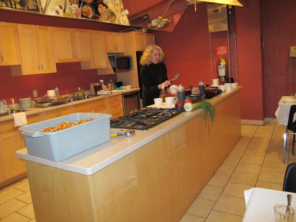 Shirley Johnson in our Go Cooking kitchen