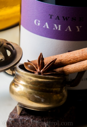 Gamay Noir, Star Anise, Cinnamon Syrup (Red Wine Syrup)