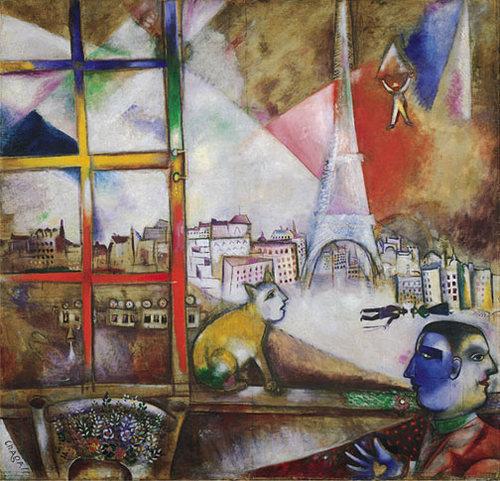 Marc Chagall, Paris Through a Window, 1913