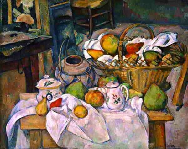 Cezanne - Still Life with Basket (Kitchen Table) 1890-95